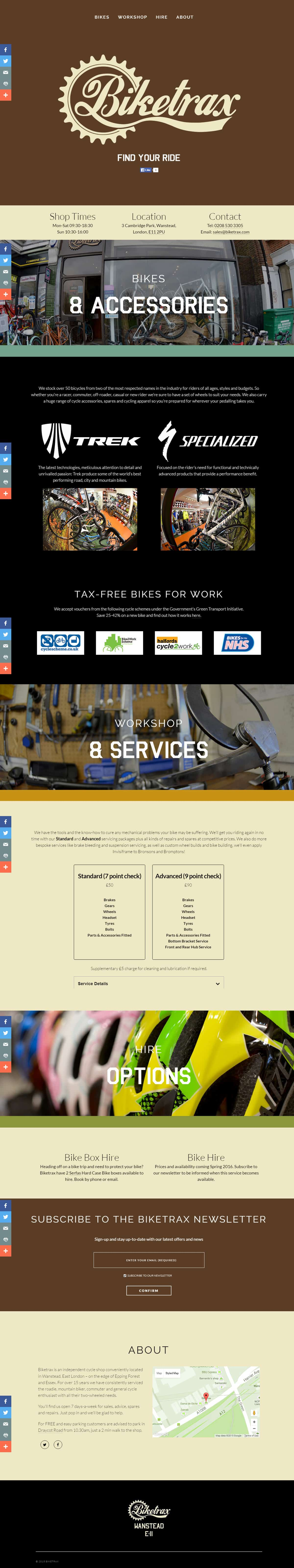 Biketrax Website Full Version