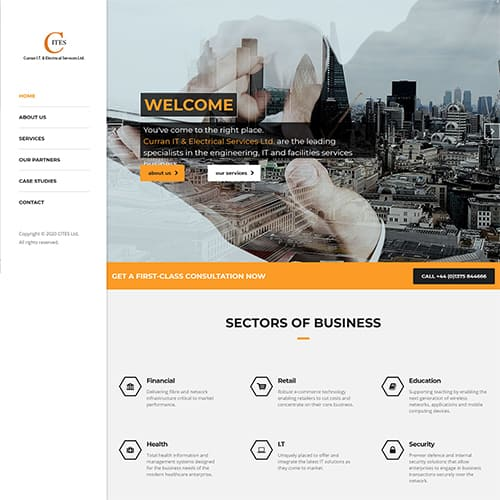 Curran IT Website Portfolio Preview