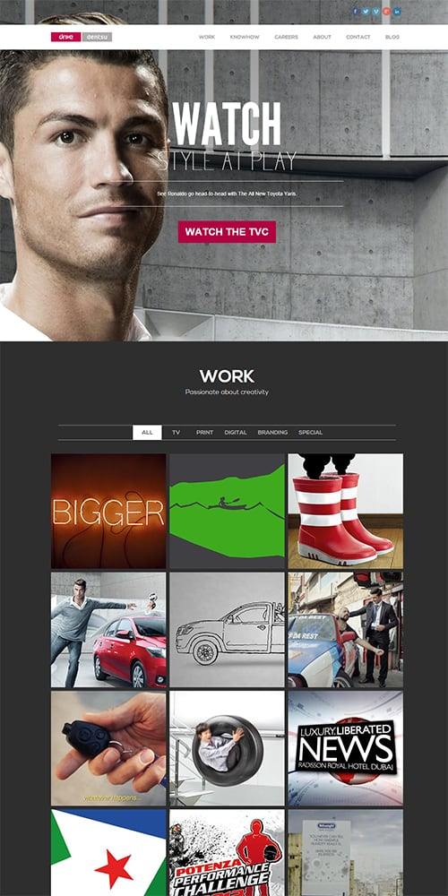 Drive Dentsu Website Preview