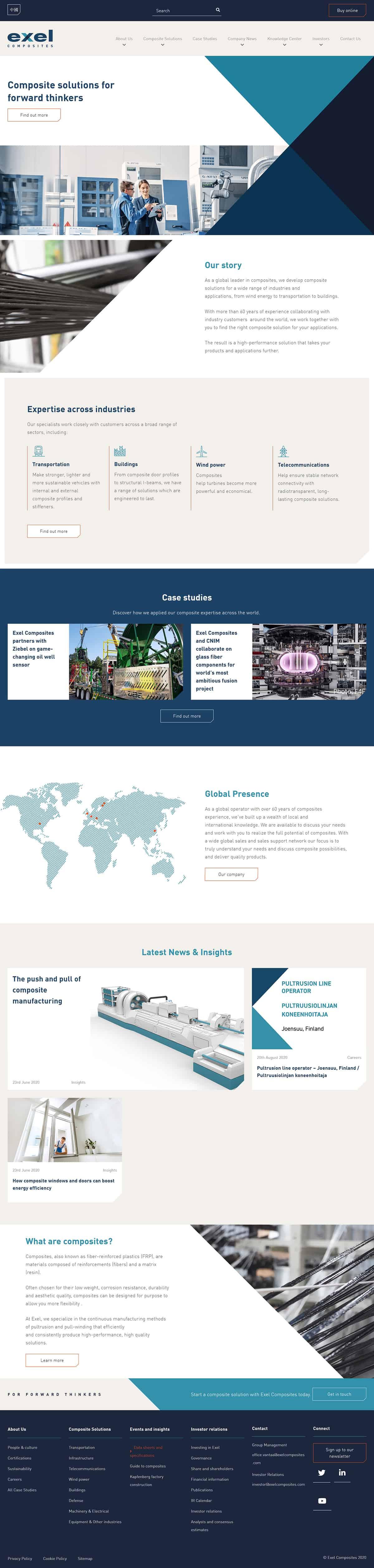 Exel Composites Website Full