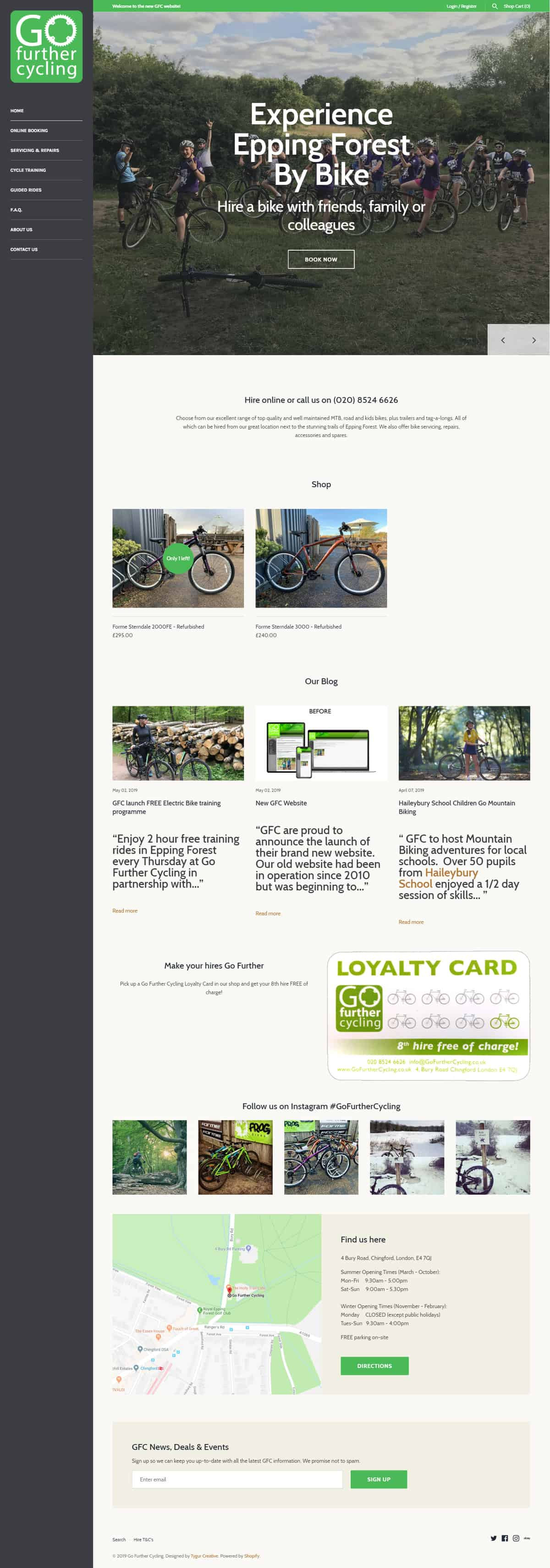 Go Further Cycling Website Full
