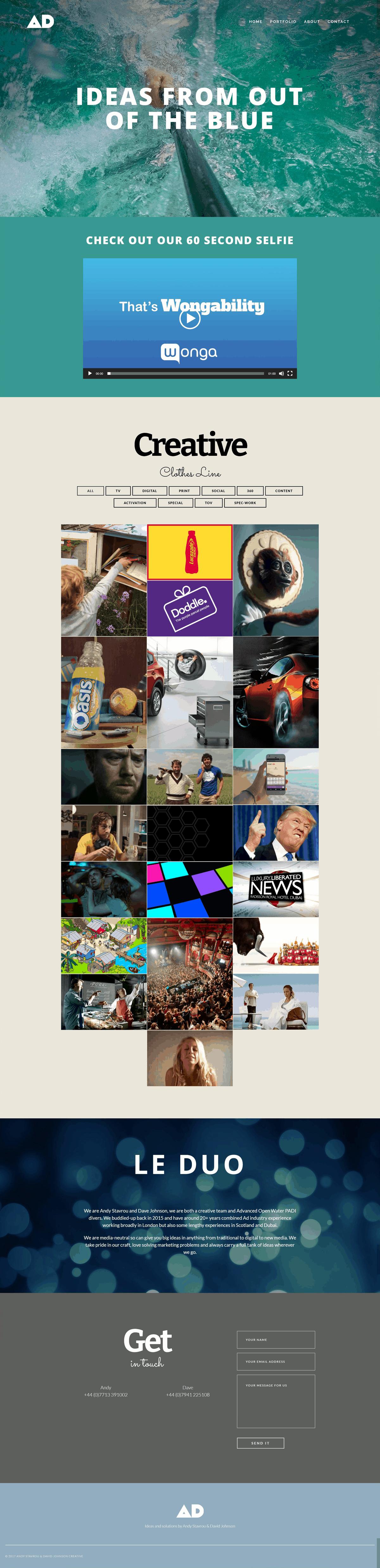 AD Portfolio Website Full
